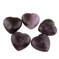 Amethyst Anhänger, Herz, violett, 30x29x11mm, Bohrung:ca. 1.5mm, 5PCs/Tasche, verkauft von Tasche