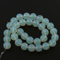 Opal Perlen, rund, blau, 38x10x10mm, Bohrung:ca. 1.5mm, Länge:39.5 cm, 7PCs/Tasche, verkauft von Tasche