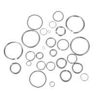 Zinklegierung Biegering, silberfarben plattiert, DIY & verschiedene Stile für Wahl, metallische Farbe plattiert, 1.50x8mm, verkauft von Tasche