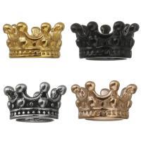 Edelstahl Perle Kappe, Krone, plattiert, keine, 10x6x10mm, Bohrung:ca. 5mm, 10PCs/Menge, verkauft von Menge