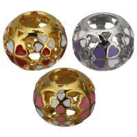Edelstahl-Perlen mit großem Loch, Edelstahl, plattiert, Emaille & hohl, keine, 11x8.50x11mm, Bohrung:ca. 5mm, 10PCs/Menge, verkauft von Menge