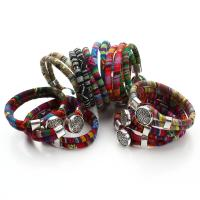 Baumwolle Armband, mit Zinklegierung, Folk-Stil & für Frau, keine, 6mm, Länge:8 ZollInch, verkauft von PC