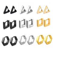Edelstahl-Hebel zurück-Ohrring, Edelstahl, plattiert, Handpoliert & unisex & verschiedene Stile für Wahl & glatt, keine, verkauft von Paar