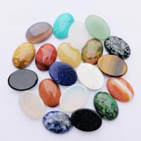 Edelstein Cabochons, poliert, verschiedenen Materialien für die Wahl, 25x18mm, 10PCs/Tasche, verkauft von Tasche