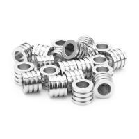Edelstahl-Perlen mit großem Loch, Edelstahl, Zylinder, 6.5X8mm, 10PCs/Tasche, verkauft von Tasche