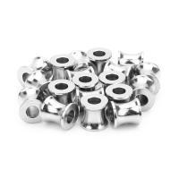 Edelstahl-Distanzscheiben-Korn, Edelstahl, Zylinder, 8X8mm, 10PCs/Tasche, verkauft von Tasche