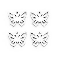 Edelstahl Tieranhänger, Schmetterling, hohl, 10X11.6mm, 20PC/Tasche, verkauft von Tasche