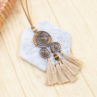 Zinklegierung Pullover Halskette, plattiert, für Frau, keine, frei von Nickel, Blei & Kadmium, 125x70mm, verkauft von Strang