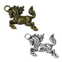 Zinklegierung Tier Anhänger, Pferd, plattiert, keine, frei von Nickel, Blei & Kadmium, 28x20.50x3.50mm, Bohrung:ca. 3.5mm, 100PCs/Menge, verkauft von Menge
