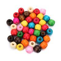 Holz Großes Loch Perlen, Trommel, keine, 11x12.5mm, Bohrung:ca. 5mm, ca. 200PCs/Tasche, verkauft von Tasche