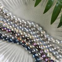 Mode Glasperlen, Glas, plattiert, keine, 9x12mm, Bohrung:ca. 1mm, 60PCs/Strang, verkauft von Strang