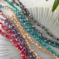 Mode Glasperlen, Glas, Blume, plattiert, verschiedene Größen vorhanden, keine, frei von Nickel, Blei & Kadmium, Bohrung:ca. 1mm, verkauft von Strang