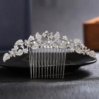 Dekoratives Haarkämmchen, Zinklegierung, mit Kristall, plattiert, für Frau & mit Strass, keine, frei von Nickel, Blei & Kadmium, 115*55mm, verkauft von PC