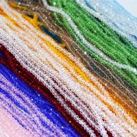 Kristall-Perlen, Kristall, verschiedene Größen vorhanden, mehrere Farben vorhanden, verkauft von Strang