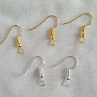 Zinklegierung Ohrhaken, plattiert, verschiedene Verpackungs Art für Wahl & DIY, keine, 19.4mm, Bohrung:ca. 2mm, verkauft von Tasche