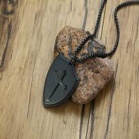 Edelstahl Schmuck Halskette, plattiert, unisex, keine, 40x30mm, verkauft per ca. 24 ZollInch Strang