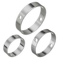 Messing Perlen Einstellung, platiniert, verschiedene Größen vorhanden, frei von Nickel, Blei & Kadmium, Bohrung:ca. 1mm, 50PCs/Menge, verkauft von Menge