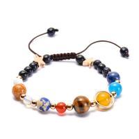 Naturstein Woven Ball Armband, mit Nylonschnur, verschiedene Stile für Wahl & für Frau, verkauft per ca. 9.5 ZollInch Strang