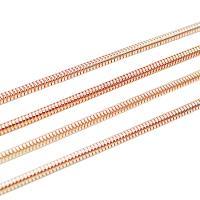Eisen Schmuckketten, plattiert, Schlangekette, keine, frei von Nickel, Blei & Kadmium, 50m/Menge, verkauft von Menge
