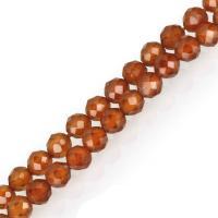 Natürlicher Granat Perlen, orange, frei von Nickel, Blei & Kadmium, 3.50x3.50x3.50mm, Länge:ca. 16 ZollInch, 5SträngeStrang/Menge, ca. 120PCs/Strang, verkauft von Menge