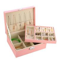 Multifunktionale Schmuck-Box, PU Leder, mit Papier & Baumwollsamt, wasserdicht, keine, 230x170x85mm, verkauft von PC