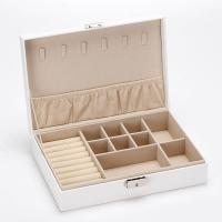 Multifunktionale Schmuck-Box, PU Leder, mit Baumwollsamt, Koreanischen Stil & wasserdicht, keine, 265x180x68mm, verkauft von PC