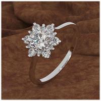 Messing Fingerring, plattiert, verschiedene Größen vorhanden & für Frau & mit Strass, keine, frei von Nickel, Blei & Kadmium, Größe:6-10, verkauft von PC