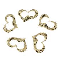 Messing Herz Anhänger, goldfarben plattiert, frei von Nickel, Blei & Kadmium, 21x30mm, Bohrung:ca. 2mm, ca. 30PCs/Tasche, verkauft von Tasche
