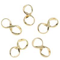 Messing Schmuck Verbinder, Nummer 8, goldfarben plattiert, frei von Nickel, Blei & Kadmium, 9x17mm, ca. 50PCs/Tasche, verkauft von Tasche
