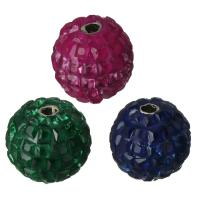 Kubischer Zirkonia Messing Perlen, mit kubischer Zirkonia, platiniert, verschiedene Größen vorhanden, gemischte Farben, frei von Nickel, Blei & Kadmium, Bohrung:ca. 2mm, verkauft von PC