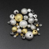 Messing Schmuckperlen, rund, plattiert, DIY & verschiedene Größen vorhanden & satiniert, keine, verkauft von Tasche