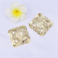 Haarstock-Befunde, Messing, vergoldet, hohl, frei von Nickel, Blei & Kadmium, 39mm, 10PCs/Menge, verkauft von Menge