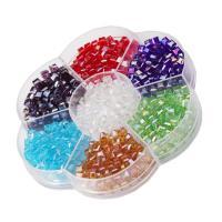 Kristall-Perlen, Kristall, mit Kunststoff, Quadrat, plattiert, verschiedene Größen vorhanden, verkauft von Box
