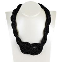 Harz Halskette, mit Seedbead, mit Verlängerungskettchen von 7cm, plattiert, für Frau, keine, 12mm, verkauft per 17.7 ZollInch Strang