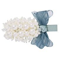 Schnabelspange, Zinklegierung, mit Kunststoff Perlen, für Frau, keine, frei von Nickel, Blei & Kadmium, 80x40mm, verkauft von PC