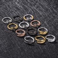 Messing Open -Finger-Ring, plattiert, unisex & verschiedene Stile für Wahl, keine, frei von Nickel, Blei & Kadmium, Größe:8, verkauft von PC