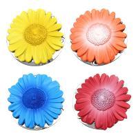Art und Weisebeutel Aufhänger, Zinklegierung, mit Kunststoff, Blume, plattiert, keine, 45mm, 5PCs/Menge, verkauft von Menge