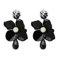 Harz Ohrring, Kunststoff, mit Harz, Blume, für Frau, keine, frei von Nickel, Blei & Kadmium, 100x68mm, verkauft von Paar