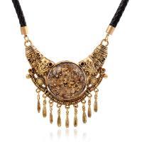 Zinklegierung Schmuck Halskette, mit Acryl, plattiert, für Frau, keine, frei von Nickel, Blei & Kadmium, verkauft per 17.7 ZollInch Strang