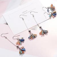 925er Sterling Silber Tropfen Ohrring, mit Lampwork, platiniert, verschiedene Stile für Wahl & für Frau, 80mm,30mm,7mm,8mm, verkauft von Paar