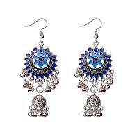 Zinklegierung Ohrringe, für Frau & Emaille, keine, frei von Nickel, Blei & Kadmium, 75mm, verkauft von Paar