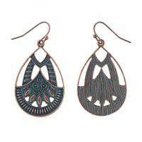 Zinklegierung Ohrringe, für Frau, frei von Nickel, Blei & Kadmium, 47mm, verkauft von Paar