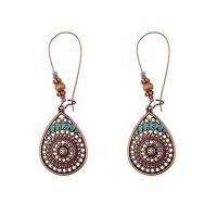 Zinklegierung Ohrringe, für Frau & Emaille, farbenfroh, frei von Nickel, Blei & Kadmium, 69mm, verkauft von Paar