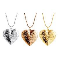 Zinklegierung Medaillon-Halskette, Herz, unisex, keine, frei von Nickel, Blei & Kadmium, 29x33mm, verkauft per ca. 15.7 ZollInch Strang