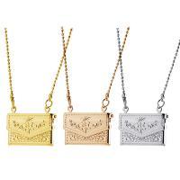 Messing Medaillon-Halskette, für Frau, keine, frei von Nickel, Blei & Kadmium, 21x14mm, verkauft per ca. 15.7 ZollInch Strang