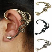Zinklegierung Ohrring Manschette, plattiert, für Frau, keine, frei von Nickel, Blei & Kadmium, 55x47mm, verkauft von Paar