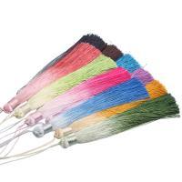 Dekorative Quaste, Polyester, keine, 17mm, Bohrung:ca. 2mm, Länge:51 ZollInch, 4PC/Tasche, verkauft von Tasche