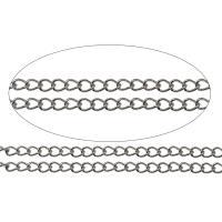 Edelstahl ovale Kette, verschiedene Größen vorhanden & Twist oval, originale Farbe, frei von Nickel, Blei & Kadmium, 100/m, verkauft von m