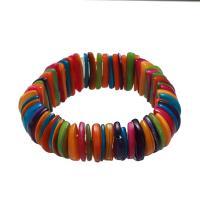Muschel Schmuck Armband, für Frau, gemischte Farben, 10x20x3mm, verkauft per ca. 7.5 ZollInch Strang