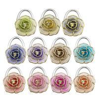 Art und Weisebeutel Aufhänger, Zinklegierung, mit Kunststoff, Blume, plattiert, keine, 50x70mm, 5PCs/Menge, verkauft von Menge